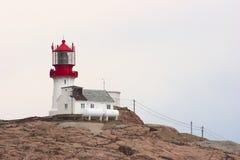 Lindesnes Fyr (маяк) в Норвегии Стоковое Изображение