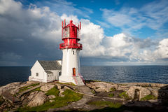 Lindesnes Fyr Lighthouse, Norway Royalty Free Stock Images