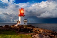 Lindesnes Fyr Lighthouse, Norway Stock Image