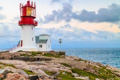Lindesnes latarnia morska w Norwegia zdjęcia stock