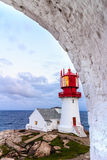 Lindesnes Lighthouse in Norway Royalty Free Stock Photos