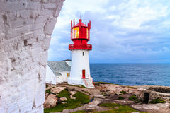 Lindesnes Lighthouse in Norway Stock Images