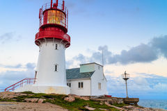 Lindesnes Lighthouse in Norway Royalty Free Stock Images