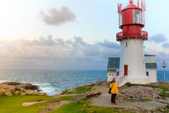 Lindesnes Lighthouse in Norway Stock Image