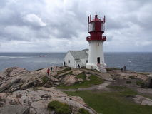 Lindesnes Lighthouse Royalty Free Stock Photos