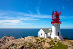 Lindesnes lighthouse Royalty Free Stock Image