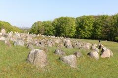 Lindholm kullar i Danmark Arkivbild