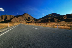 Lindis pass newzealand Royalty Free Stock Image