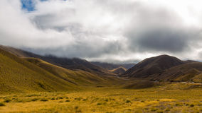 Lindis Pass, South Island, New Zealand Stock Images