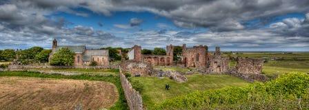 Lindisfarne圣洁海岛诺森伯兰角,英国 免版税图库摄影