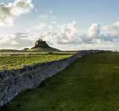 Lindisfarne城堡,圣洁海岛,诺森伯兰角 英国 英国 图库摄影