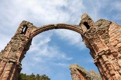 LINDISFARNE城堡,圣洁ISLAND/NORTHUMBERLAND - 8月16日:克洛 库存图片