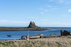 Lindisfarne城堡 库存图片