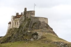 Lindisfarne Castleâ au Berwick-sur-Tweed Photo stock