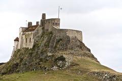 Lindisfarne Castleâ bij berwick-op-Tweed Stock Foto