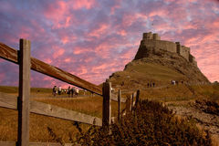 Lindisfarne Castle. On Holy Island, Northumberland, England Royalty Free Stock Photo