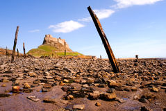 Lindisfarne Castle from beach II Stock Photography