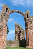 LINDISFARNE CASTLE, HOLY ISLAND/NORTHUMBERLAND - AUGUST 16 : Clo Stock Photography