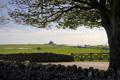 Lindisfarne Castle on Holy Island, Northumberland, England. Royalty Free Stock Images