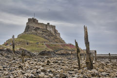 Lindisfarne Castle, holy island Stock Photo
