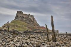 Lindisfarne Castle, holy island Stock Photo
