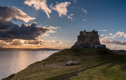 Lindisfarne Castle late afternoon Stock Photo
