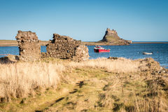 Lindisfarne Castle from Steel End Royalty Free Stock Photos
