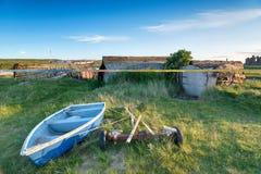 Lindisfarne hamn Arkivfoton