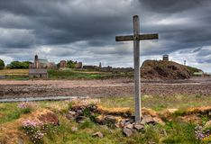 Lindisfarne holy Island Northumberland, UK. Holy Island Lindisfarne is situated off the Northumberland coast in the north east of England, possibly the holiest Royalty Free Stock Images