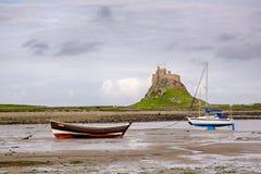 Lindisfarne kasztel Fotografia Stock