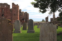 Lindisfarne-Kloster stockfotos