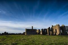 Lindisfarne priory na Świętej wyspie w Northumberland Obrazy Royalty Free