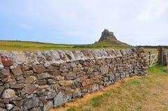 Lindisfarne Schloss Stockbild