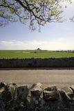 Lindisfarnekasteel op Heilig Eiland, Northumberland, Engeland. Royalty-vrije Stock Fotografie