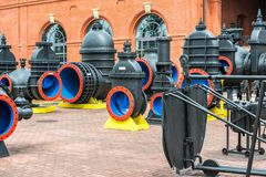 Lindley filters in Warsaw, historical machines and pumps. Poland Stock Image