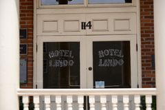 Lindo Hotel Downtown in Covington Tennesse. Lindo Hotel in Downtown Covington Tennessee, Covington is a city in central Tipton County, Tennessee, United States royalty free stock photos
