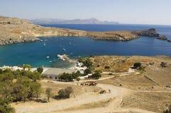 Lindo trzymać na dystans Grecja Rhodes 2011 fotografia stock