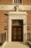 Lindo Wing Entrance, St Mary's Hospital. LONDON, ENGLAND - JULY 19: Entrance to the private wing of St Mary's Hospital, Paddington where the Duchess of Cambridge Stock Photography