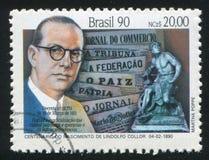 Lindolfo Collor drukte door Brazilië stock afbeeldingen
