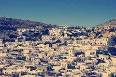 Lindos村庄在罗得岛的在希腊 免版税库存照片