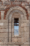 Lindos罗得岛希腊教会废墟 库存照片
