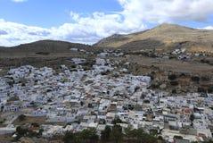 Lindos,罗得岛,希腊 图库摄影