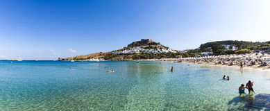 lindos Ρόδος νησιών της Ελλάδας κόλπων Στοκ Εικόνες