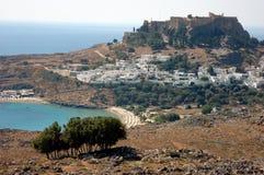 lindos Греции Стоковое фото RF