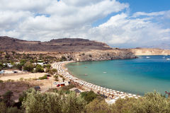 Lindos. Island of Rhodes in Greece stock photography