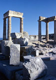 Lindos Acropolis Stock Photography