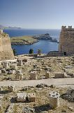 Lindos acropolis Royalty Free Stock Images