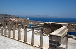 Lindos Acropolis Stock Image