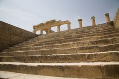 Lindos Acropolis Greece Stock Image