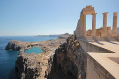Lindos Acropolis Greece Royalty Free Stock Images